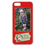 Merry Christmas Iphone - Apple Seamless iPhone 5 Case (Clear)