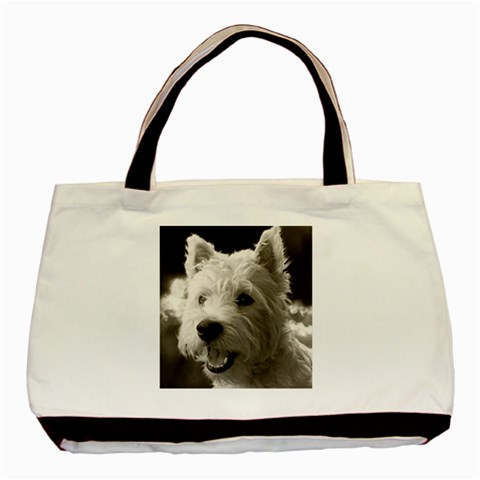 Westie Puppy Tote Bag By Lou   Basic Tote Bag   22ktkk7s7zhc   Www Artscow Com Front