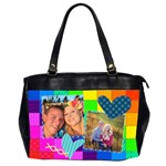 Rainbow Stitch - Oversize Office Handbag (Two Sides)