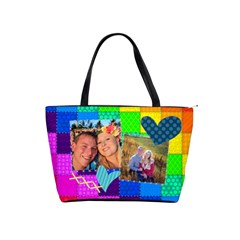 Rainbow Stitch By Digitalkeepsakes   Classic Shoulder Handbag   Xwx3qnty5rps   Www Artscow Com Front