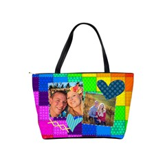 Rainbow Stitch By Digitalkeepsakes   Classic Shoulder Handbag   Xwx3qnty5rps   Www Artscow Com Back