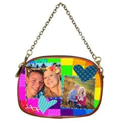 Rainbow Stitch By Digitalkeepsakes   Chain Purse (two Sides)   Fxf59p4s7tbd   Www Artscow Com Front