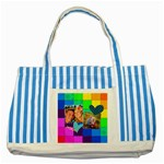 Rainbow Stitch - Striped Blue Tote Bag