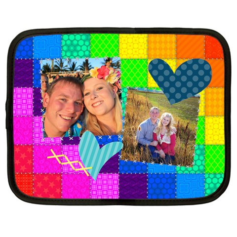 Rainbow Stitch By Digitalkeepsakes   Netbook Case (large)   Ghwyzlum0vc9   Www Artscow Com Front