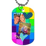 Stitched Quilted Rainbow - Dog Tag (Two Sides)