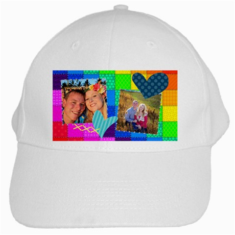 Stitched Quilted Rainbow By Digitalkeepsakes   White Cap   N0i93jny3p9k   Www Artscow Com Front