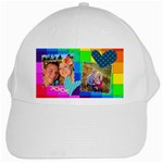 Stitched Quilted Rainbow - White Cap