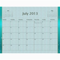 2013 By Terry   Wall Calendar 11  X 8 5  (12 Months)   Xml2cr905hz3   Www Artscow Com Jul 2013