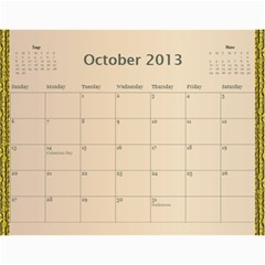 2013 By Terry   Wall Calendar 11  X 8 5  (12 Months)   Xml2cr905hz3   Www Artscow Com Oct 2013