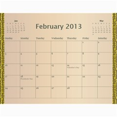 2013 By Terry   Wall Calendar 11  X 8 5  (12 Months)   Xml2cr905hz3   Www Artscow Com Feb 2013