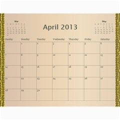 2013 By Terry   Wall Calendar 11  X 8 5  (12 Months)   Xml2cr905hz3   Www Artscow Com Apr 2013