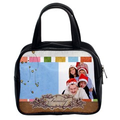 Fun, Kids, Flowers, Happy, Child By Betty   Classic Handbag (two Sides)   7pj4yrdczvym   Www Artscow Com Front