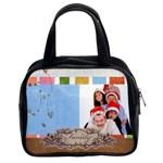 fun, kids, flowers, happy, child - Classic Handbag (Two Sides)