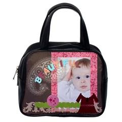 Fun, Kids, Flowers, Happy, Child By Betty   Classic Handbag (two Sides)   Dqlb5mtgxl6o   Www Artscow Com Back