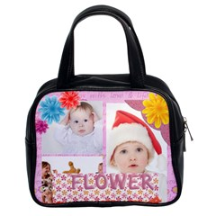 Fun, Kids, Flowers, Happy, Child By Betty   Classic Handbag (two Sides)   Qz2vag26t6xw   Www Artscow Com Front