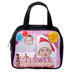 Fun, Kids, Flowers, Happy, Child By Betty   Classic Handbag (two Sides)   Qz2vag26t6xw   Www Artscow Com Back
