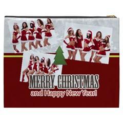 Merry Christmas By Angena Jolin   Cosmetic Bag (xxxl)   1ya6u362iekc   Www Artscow Com Back