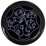 Wibbly Wobbly Timey Wimey Clock - Wall Clock (Black)