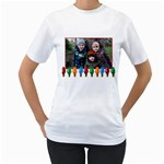 lightbulb tshirt - Women s T-Shirt (White) (Two Sided)