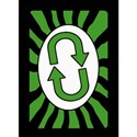 reverse card green