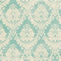 christmas wishes_blue damask