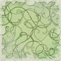 swirl lace lit green