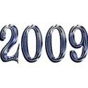 2009 blue glass snow wacky