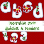 Decorative Snow Alphabet