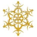 Gold sparkle snowflake
