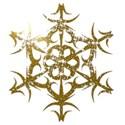 Gold sparkle snowflake2