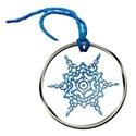 snowflake round tag tied