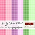 Baby Plaid Background Papers