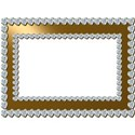 gold and diamond hearts frame with shadow3