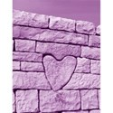 stone heart purple umbrella size