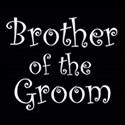cufflink black whitebrother of the groom