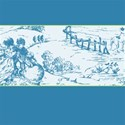 blue toile horizontal