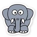 elephant sticker