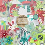 Fun ky Summer Scrap Kit