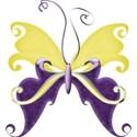 A s butterfly purpleANDyellow