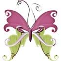 A sButterfly-paper green_purple