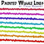 Painted Wiggle Lines