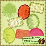 Watermelon Crawl Tags Freebie