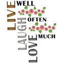 Live Love Laugh Wordart - 04