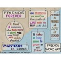 Friends Word Art Cover