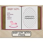 Baby Girl Book Frame