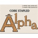 Cork Stapled Alphabet