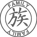Japanese Symbol Stamps - FAMILY