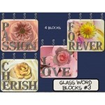 Glass Word Blocks #3