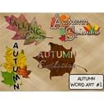 Autumn Word Art #1