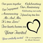 wedding,engagement & anniversary word art